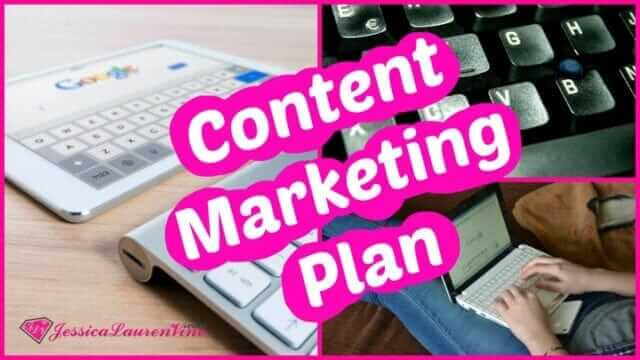 photo with text saying content marketing plan