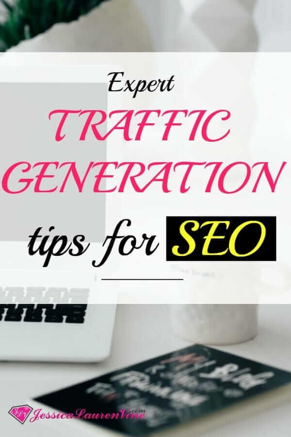 SEO tips for bloggers and traffic generation graphic