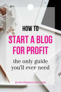 how to start a blog for pinterest pin image