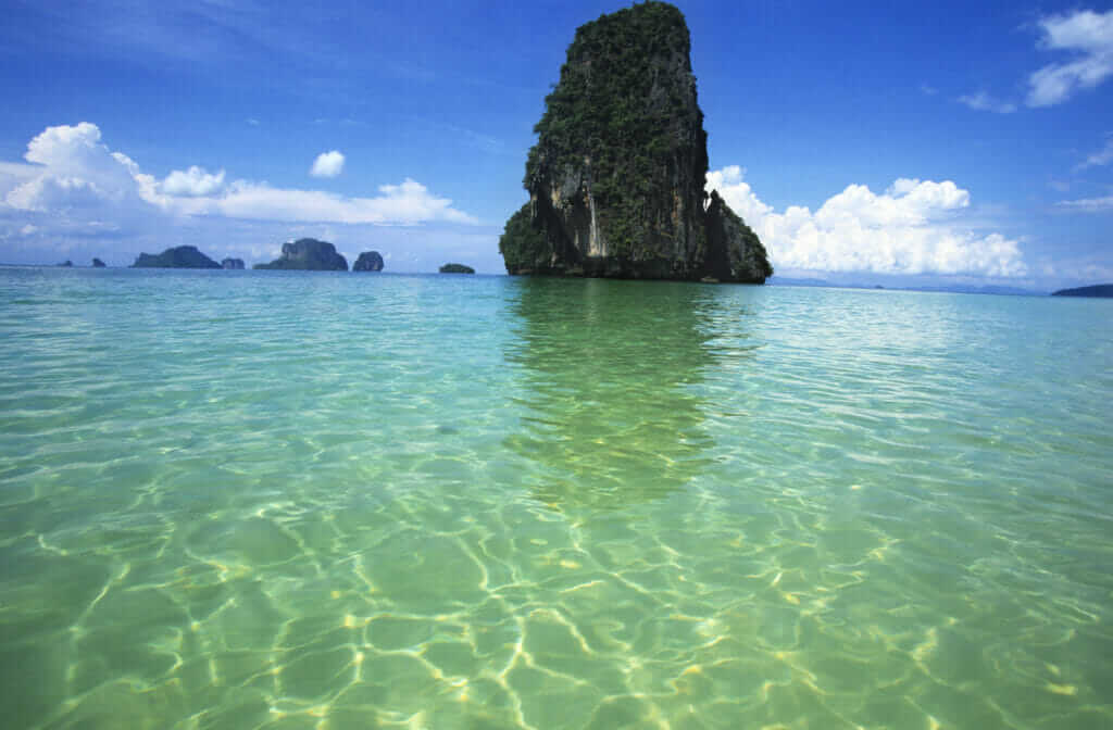beautiful water and rock