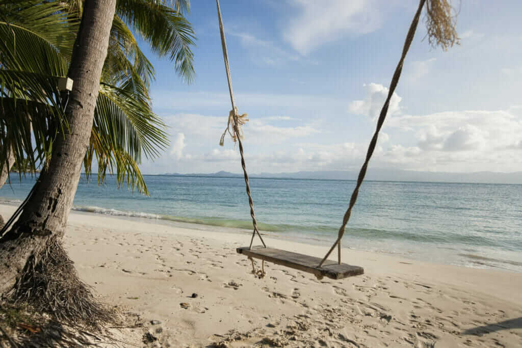 swing on a beautiful beach