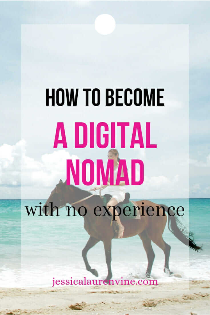 digital nomad on the beach