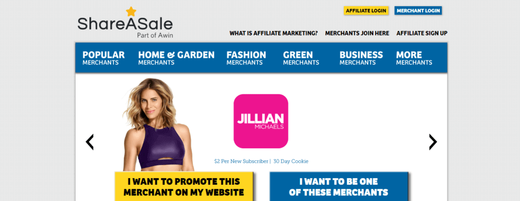 ShareASale has a lot of great offers for beginner affiliate marketers