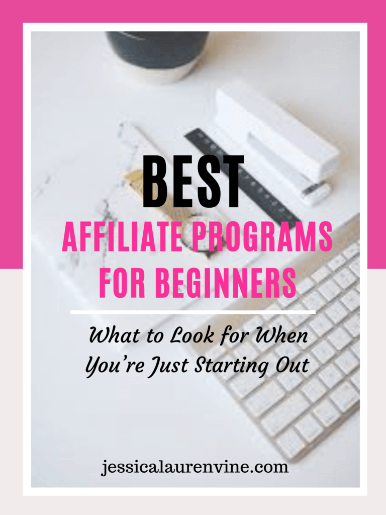 affiliate programs for beginners graphic for pinterest